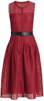 Akris Punto Mesh Grid Sleeveless Dress