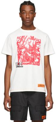 Heron Preston White and Red Box Skull T-Shirt