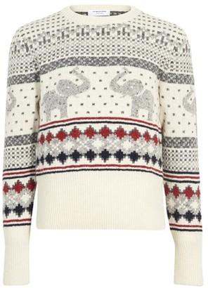 Thom Browne Elephant motif sweater