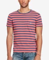Polo Ralph Lauren Men's Big & Tall Jersey Pocket Striped T-Shirt