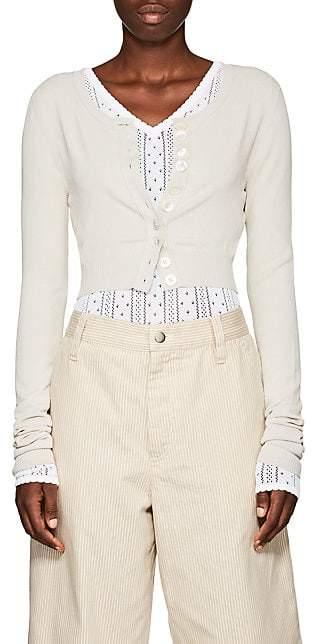 Marc Jacobs Women's Jersey Crop Cardigan - Beige, Tan