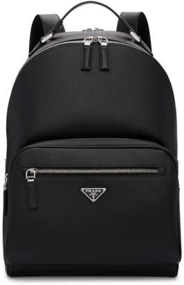 Prada Black Leather Travel Backpack