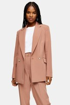 Topshop Womens Rose Pink Peg Suit Trousers - Rose