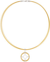 Alor Spring Coil Cable & Diamond Pendant Necklace, Yellow