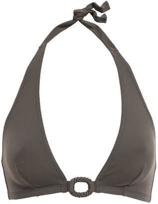 Eres Studio Compact Ring-embellished Halterneck Bikini Top