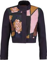 Roksanda Hidaka paneled jacquard, felt, twill and organza cropped jacket