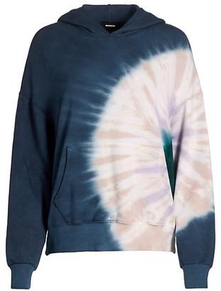 Monrow Circular Tie-Dye Hoodie