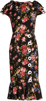 Dolce & Gabbana Rose-print silk-charmeuse dress