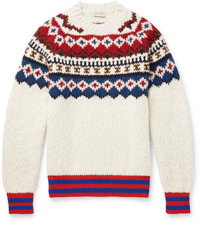 Moncler Fair Isle Wool-Blend Sweater