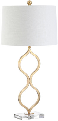 Jonathan Y Designs Levi 31.5In Metalcrystal Led Table Lamp Leaf