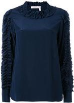 See by Chloe ruffle sleeve top - women - Silk - 38