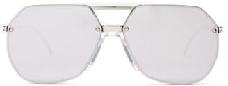 Bottega Veneta Aviator Metal Sunglasses - Silver