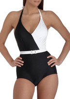 Esther Williams Splice of Life One Piece in Black
