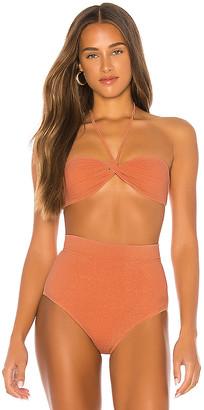 SUBOO Farrah Knot Front Bandeau Bikini Top