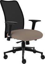 Compel Argos Mesh Back Task Chair - Black Base - Task Arm - Beige