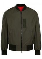 Neil Barrett Olive Embroidered Shell Bomber Jacket