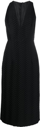 Marco De Vincenzo Embroidered Sleeveless Midi Dress