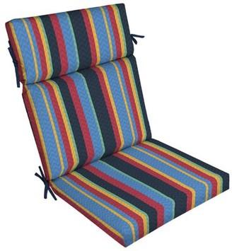 Stripe High Back Outdoor Dining Chair Cushion Ebern Designs
