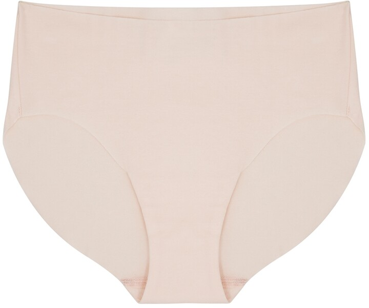 Thumbnail for your product : Hanro Invisible Pale Pink Stretch-cotton Briefs