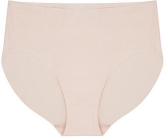 Hanro Invisible Pale Pink Stretch-cotton Briefs