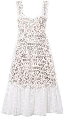 Michael Kors Broderie Anglaise Cotton Midi Dress
