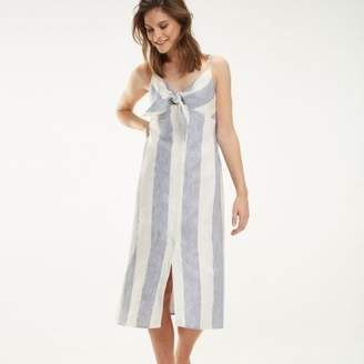 Tommy Hilfiger Pure Linen Stripe Maxi Dress