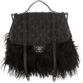 Chanel Paris-Dallas Fur Fringe Double Flap Bag