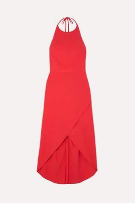 Alice + Olivia Alice Olivia - Kristy Wrap-effect Crepe Halterneck Dress - Red