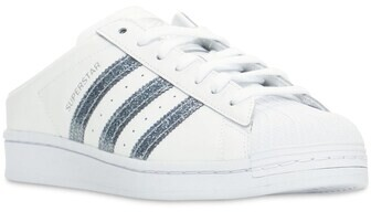 Thumbnail for your product : adidas Superstar Leather Mules W/ Sequins