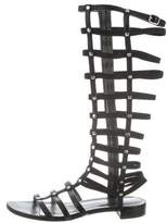 Stuart Weitzman Leather Gladiator Sandals