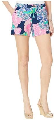 Lilly Pulitzer Callahan Knit Shorts (High Tide Navy Hey Hey Bouquet) Women's Shorts