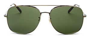 Oliver Peoples Men's Brow Bar Aviator Sunglasses, 54mm