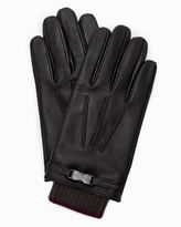 Ted Baker Clip detail leather gloves