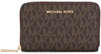 MICHAEL Michael Kors Logo-Print Zip-Around Wallet