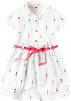 Carter's Tie Waist Shirt Dress - Print - 2T