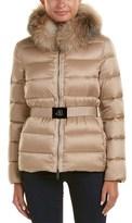 Moncler Tatie Fur Trim Down Coat.