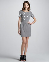 Marc by Marc Jacobs Willa Dotted Striped Dress, Tapioca