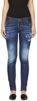 DSQUARED2 Indigo Sprinkle Wash Skinny Jeans