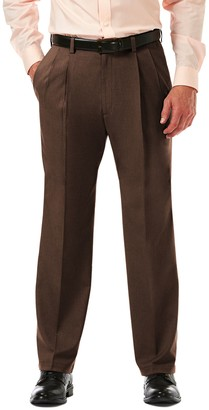 Haggar Big & Tall Cool 18 PRO Classic-Fit Wrinkle-Free Pleated Expandable Waist Pants