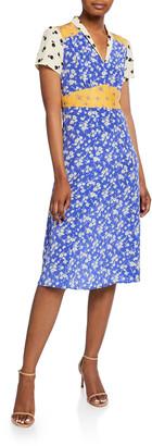 HVN Morgan 40s Printed Dress