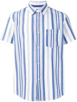 A.P.C. woven stripe shirt - men - Cotton - XL