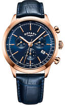 Rotary Men's Cambridge Chronograph Date Leather Strap Watch