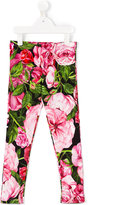 Dolce & Gabbana rose print leggings - kids - Cotton/Spandex/Elastane - 2 yrs