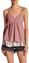 Romeo & Juliet Couture Tiered Gingham Tank