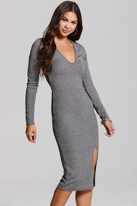 Girls On Film Silver Bodycon Dress