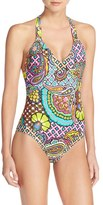 Trina Turk 'Madagascar' Racerback One-Piece Swimsuit