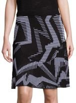M Missoni Geo Stripe Knit Skirt