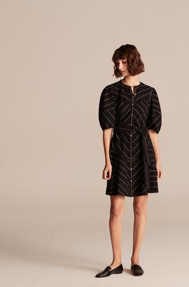 Rebecca Taylor Stripe Trim Dress