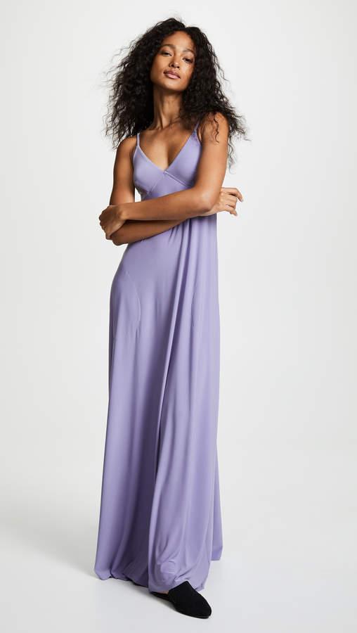 Norma Kamali Slip A-Line Long Dress