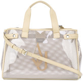 Armani Jeans transparent panel shoppong tote - women - Plastic/Polyurethane - One Size